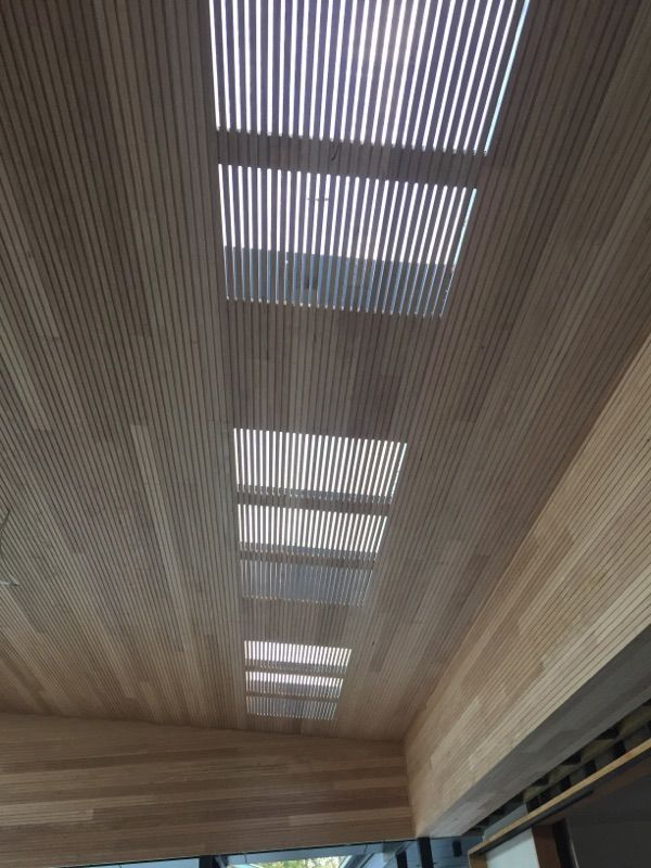 Custom Timber Ceiling with Skylight